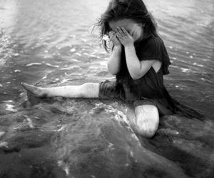 girl, sad, and child image