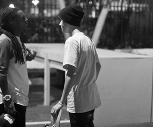 justin bieber, lil wayne, and music image