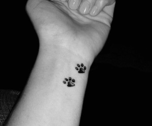 tattoo, black, and paws image