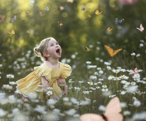 butterflies and childhood image