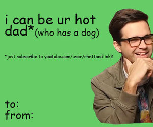 valentine, valentine's day card, and rhett and link image