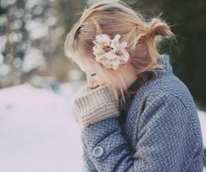 girl, flower, and blonde image