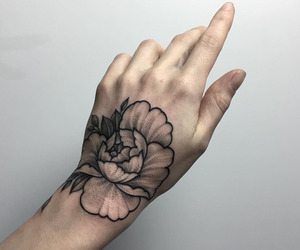 tattoo, hand, and ink image