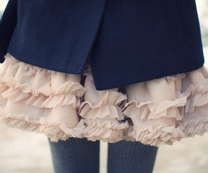 skirt, dress, and ruffles image