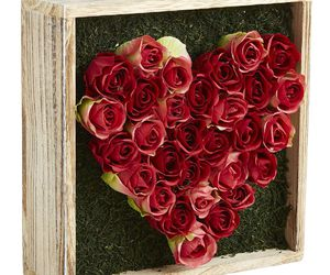 decor, red roses, and valentines day image