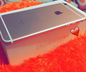 iphone, plus, and rose gold image