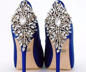 shoes, blue, and wedding image