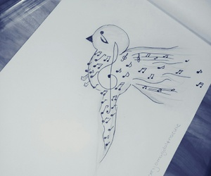 art, bird, and music image