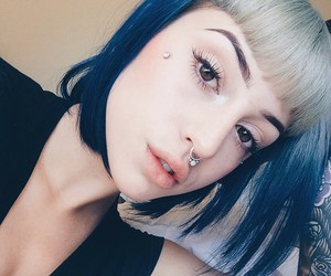 aesthetic, dyed hair, and pixie image