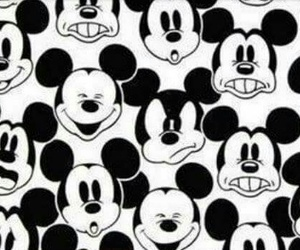 black, mickey, and mouse image