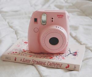 book, pink, and camera image