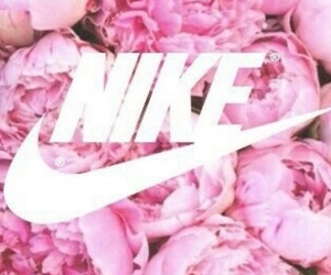 nike, roses, and pink image