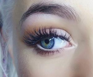 blue, eyes, and eylashes image
