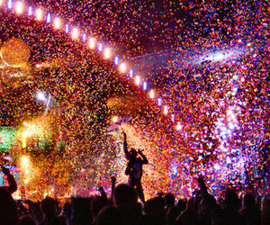 coldplay, concert, and colors image