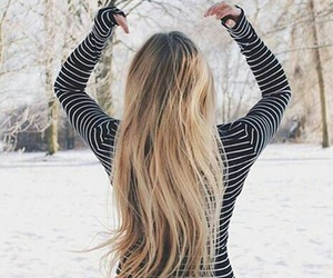 blondie, girl, and snow image