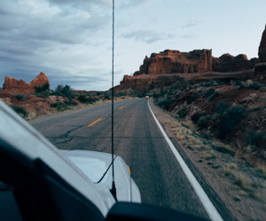 travel, car, and nature image