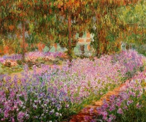 monet, art, and flowers image