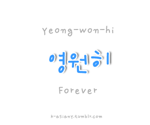 forever, language, and hangul image