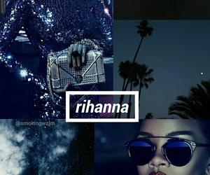 blue, rihanna, and lockscreen image
