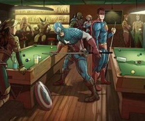 Marvel, superman, and Avengers image