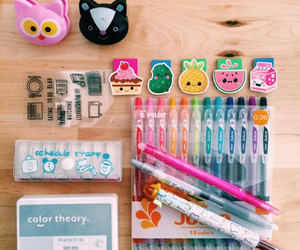 office, office supplies, and pencils image
