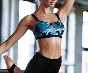 blonde, fashion, and fit image