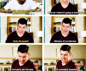 funny, new girl, and schmidt image