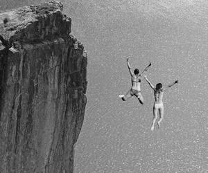 summer, jump, and sea image