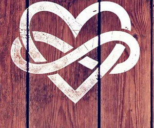 heart, infinity, and wallpaper image