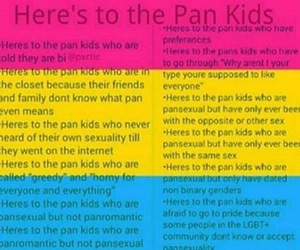 pan, love is love, and pan pride image