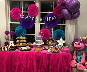baby girl, birthday party, and goals image