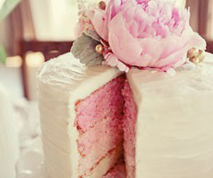 cake, pink, and flower image