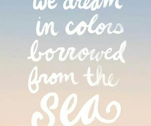 Dream, inspiration, and sea image