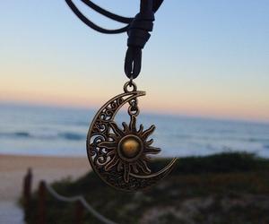 moon, fashion, and sun image
