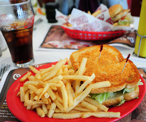 food, photography, and club sandwich image
