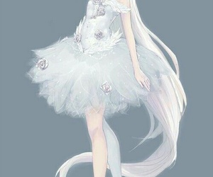 anime, anime girl, and white image