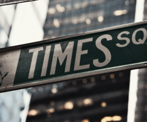 new york, times square, and city image