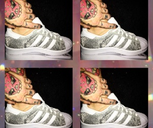 adidas, superstars, and silver image