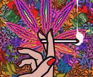 weed, marijuana, and smoke image