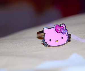 cute, hello kitty, and ring image