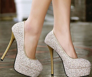 shoes, heels, and silver image