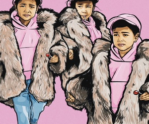 art, pink, and northwest image