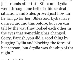 lydia, true, and teen wolf image