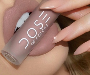 dose of colors, long claw nails, and beige claw nails image