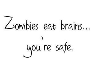 brain, zombies, and funny image