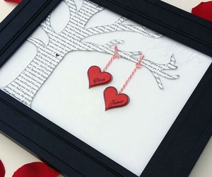 hearts, gift, and ideas image
