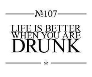 drunk, life, and quote image