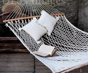 relax, white, and hammock image