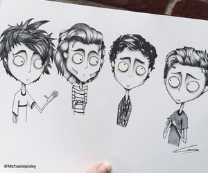 5sos, tim burton, and luke hemmings image