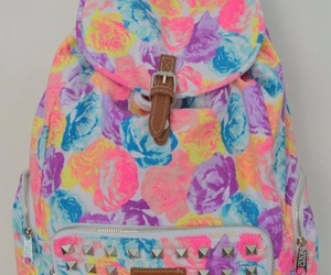 fashion, pink, and backpack image